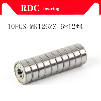 10 ADET MR126ZZ L-1260 MR126-2RS 6*12*4mm 6x12x4mm Minyatür MR126 ZZ bilyalı Rulmanlar L-1260ZZ MR126z