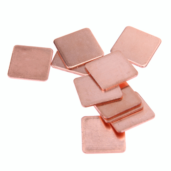 10 pcs 15mmx15mm 0.3mm/0.4mm/0.5mm/0.6mm/0.8mm/1mm/1.2mm/1.5mm/1.8mm/2mm Heatsink Copper Shim Thermal Pads for Laptop GPU CPU