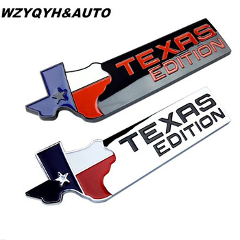2018 Texas Edition Gövde Krom Araba Amblem Yan Kanat Rozet Sticker Renegade Patriot Cherokee