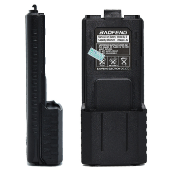 BaoFeng uv5r Walkie Talkie için 7.4 V 3800 mAh Li-Ion Taşınabilir Pil UV5R UVF8 + UV5RE