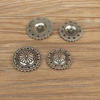 Diy johnleather craft donanım metal conchos antik gümüş finish 607137-32/36