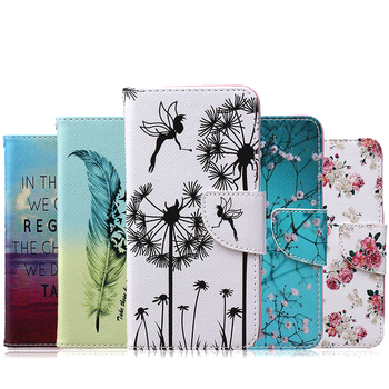 For LG Ls 770 G4 Stylus Art Pattern Flip Case Cover PU Leather Phone Shell For Leon with wallet and card holder Bag