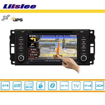 Liislee Dodge Journey Için Araba GPS Nav Navi Harita Navigasyon 2008 ~ 2010 Radyo TV CD DVD iPod Bluetooth HD Ekran Multimedya sistemi