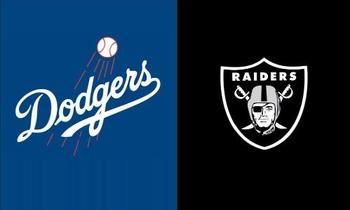 Los Angeles Dodgers VS 2 Metal Grommets ile Oakland Raiders Bayrağı Dijital Baskı afiş