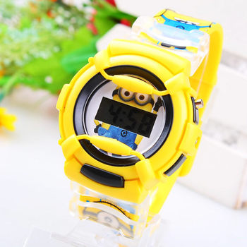 New Fashion Cute Cartoon Watches for children Christmas Gift Despicable Me Minions style digital watch silicone watch