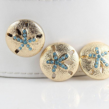 PAPAPRESS NEW 10pcs/lot Snaps Buttons Gold Plated Rhinestone Snap 18mm Button Fit Snaps Leather Bracelet Snap Jewelry N835
