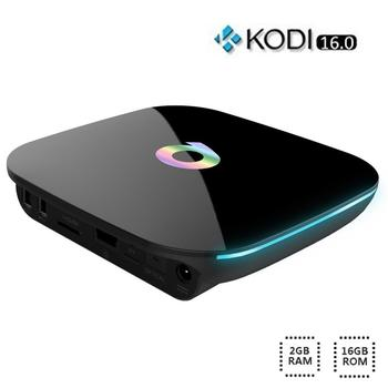 Q KUTUSU Android 6.0 TV Box 2G/16G S905X Quad Core UHD 4 K H.265 KODI Miracast Airplay 2.4G 5G WiFi Bluetooth 4.0 Media oyuncu