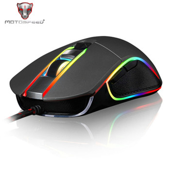 V30 RGB LED Backlight Ergonomic Optical USB Wired Gaming Mouse 3500DPI Professional Gamer Mice for Laptop Desktop