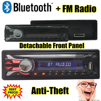 YENI 12 V Bluetooth Araç Radyo Çalar MP3 Ses dash 1 din MP3/FM/USB/SD anti-hırsızlık ayrılabilir çıkarılabilir Panel FM bluetooth