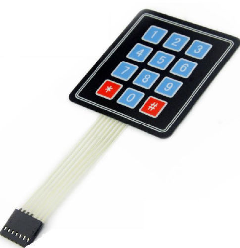 1 ADET Yeni 3x4 12 Key Matrix Membrane Switch Tuş Klavye ne