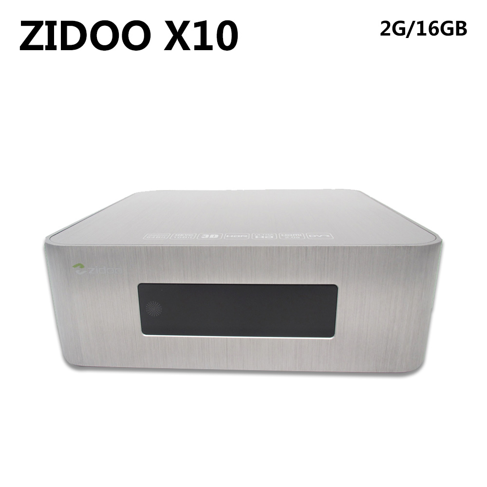 ZIDOO X10 Andoid 6.0 Akıllı TV Kutusu Çift Sistemi Quad Core 2 GB 16 GB Dual Band WIFI 1000 M LAN HDR USB 3.0 SATA 3.0 BT Media Player