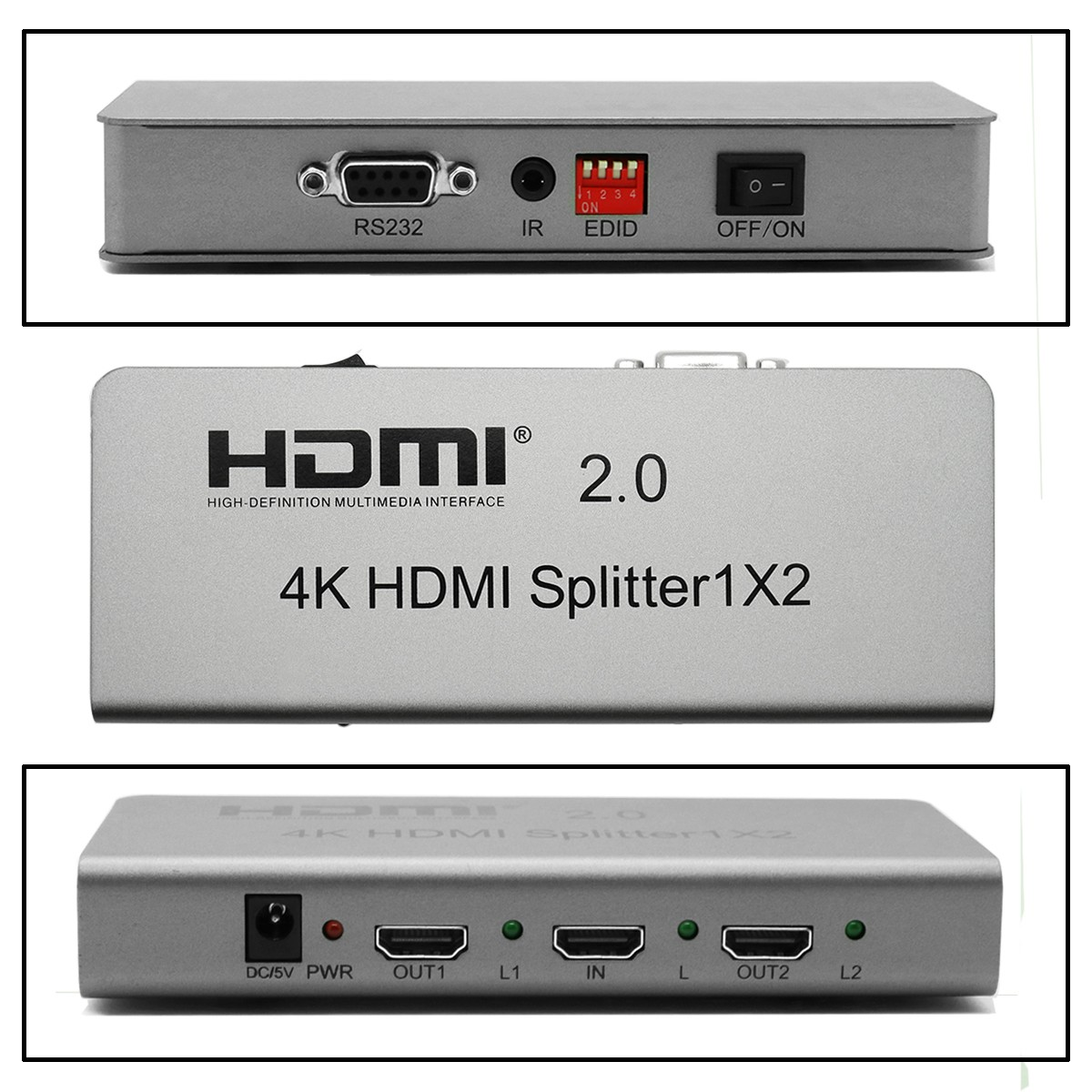 VOXLINK Full HD 1080 P 4 K HDMI 2.0 Anahtarı Splitter 1X2 3D 1 2 OUT HDMI Switcher HDTV Desteği IR Uzatma RS232 EDID PS3