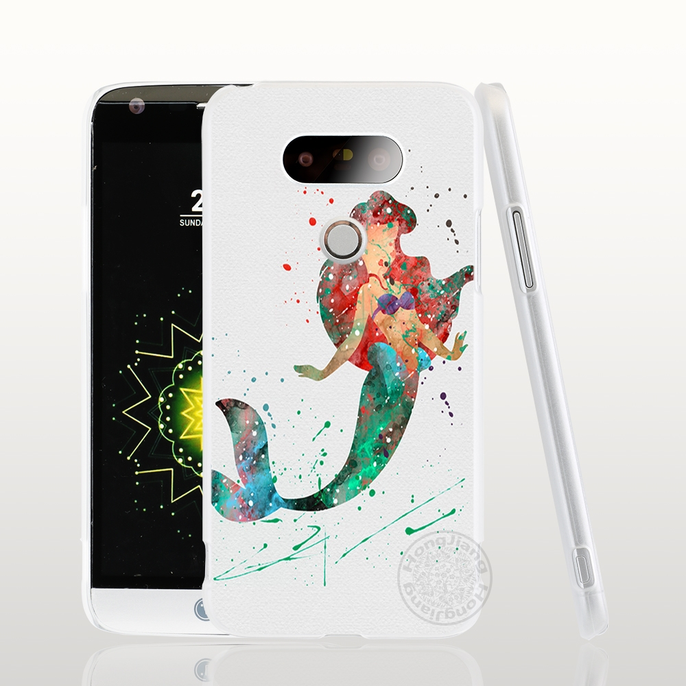 Desxz Ariel The little mermaid kılıf telefon kapak için LG G6 G5 k4 k10 M250N M250 2017 2016