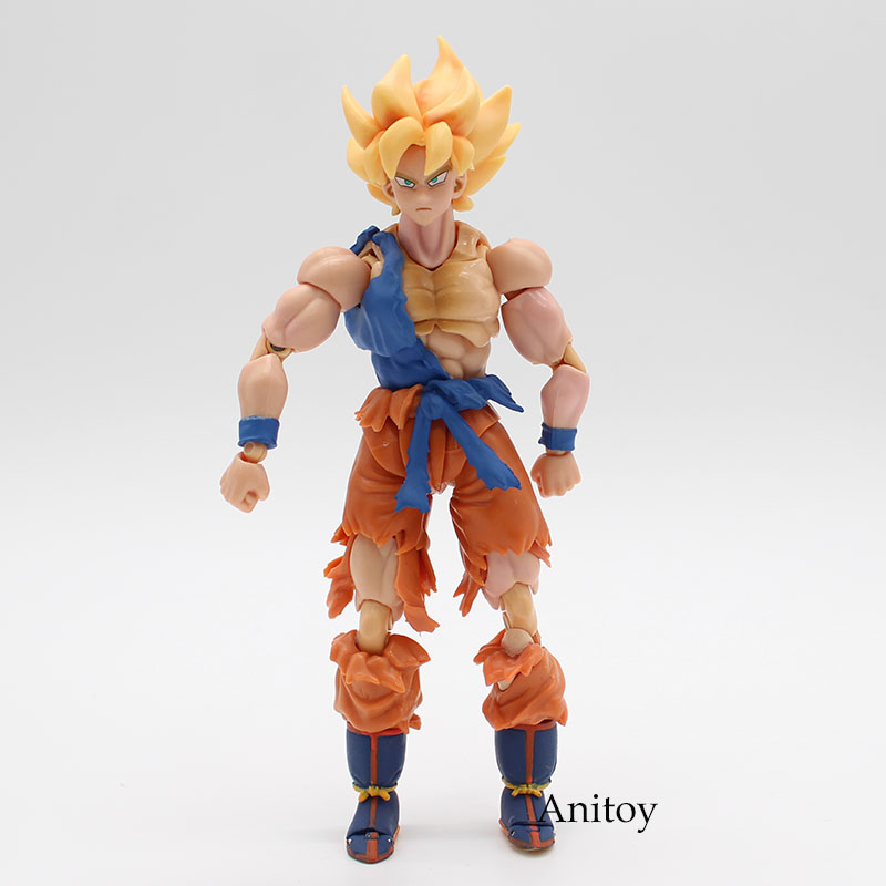 SHFiguarts Dragon Ball Z SHF Vegetto Diriliş F Oğlu Gokou PVC Action Figure Koleksiyon Model Oyuncak 16 cm KT3761